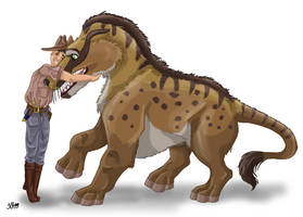 Roy Chapman Andrews and his Andrewsarchus