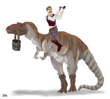 Josef Tyrrell and his Albertosaurus