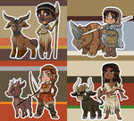 More Stone Age Chibis (with cute pets)