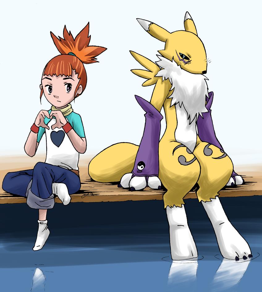 Rika and Renamon by LilFleur