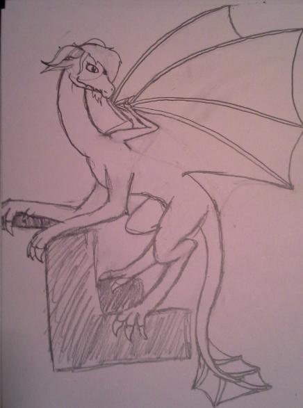 Dragon Drawn by deidaraluver15