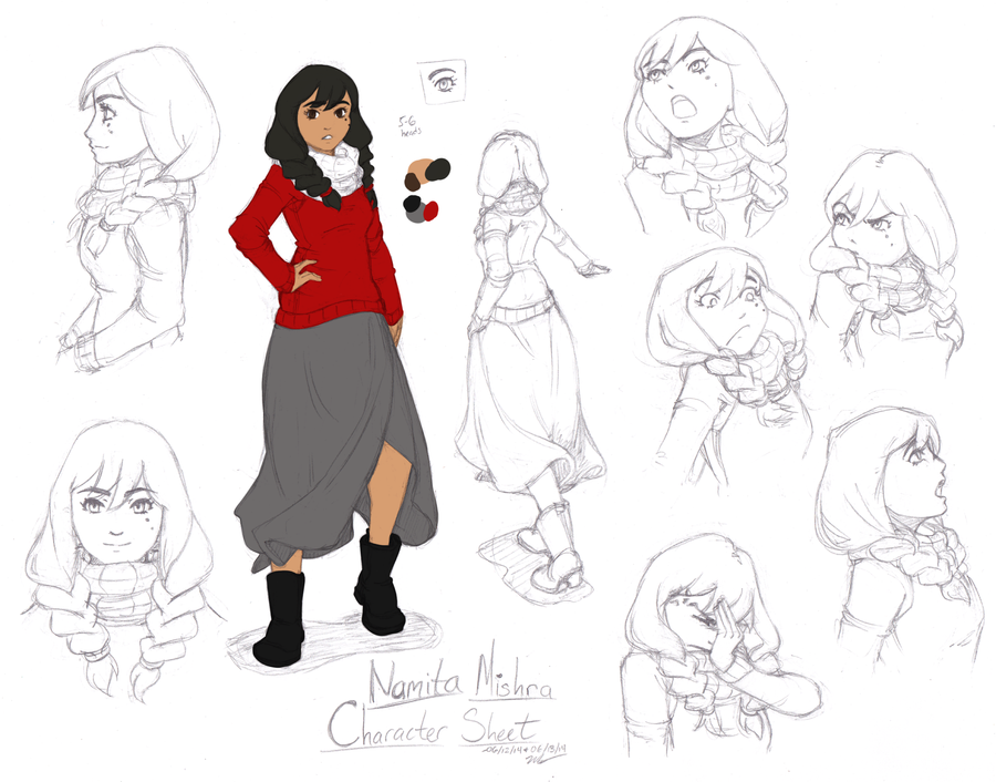 Namita Mishra Character Sheet by Bobo-Kitty