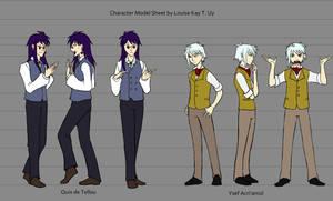 N Characters Model Sheet