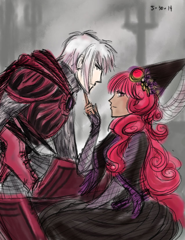 The Knight and Witch by kalkie