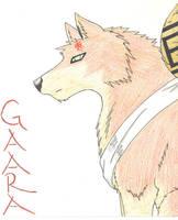 Gaara Wolf by FlawedDream