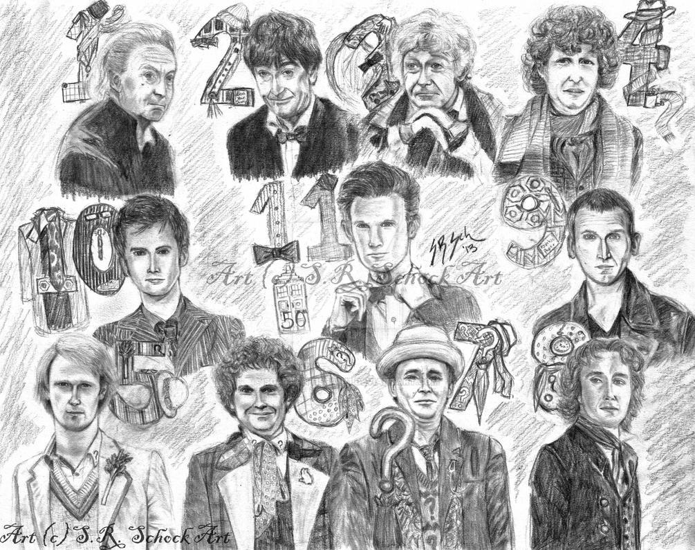 Doctor Who 50 years 11 Doctors by sgatlantisfan11
