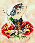 Poison Girl by VoodooKatTattooer