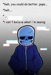 Sans's reaction.