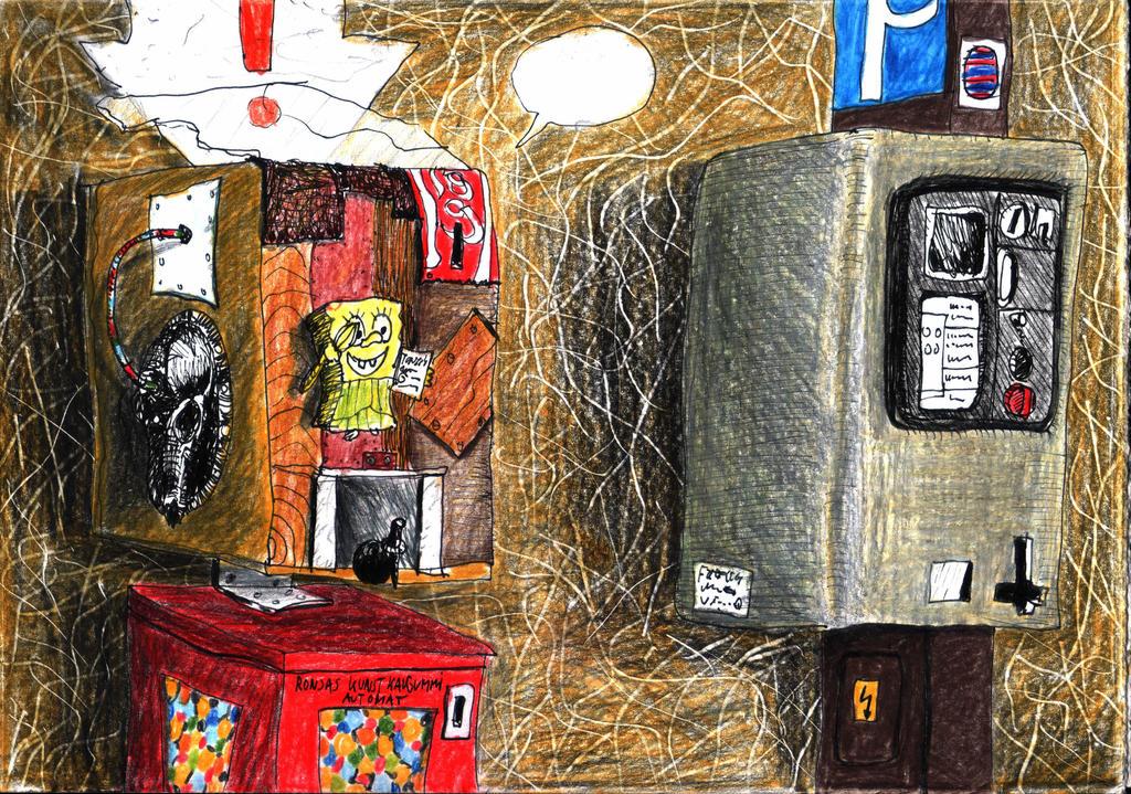 art-o-mat besides a parking ticket automat by rummsfeld