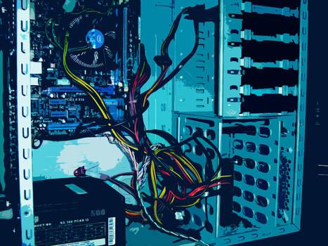 Computer Blues Cutout