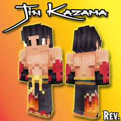 Jin Kazama Minecraft Skin (Download link included)