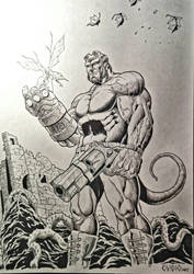 hellboy and fairy by ovidio