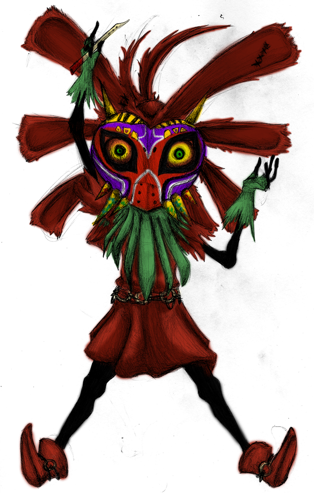 skull kid hd wallpaper color palette tags creepy scarecrow