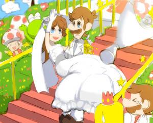 Luigi and Princess Daisy. by Uroad7