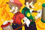 Mario and Luigi. by Uroad7