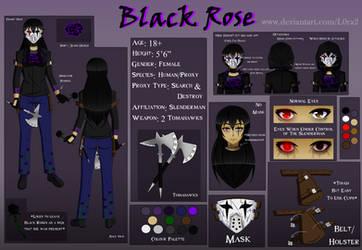 (Horror/Slenderverse) Black Rose Reference Sheet by L0ra2