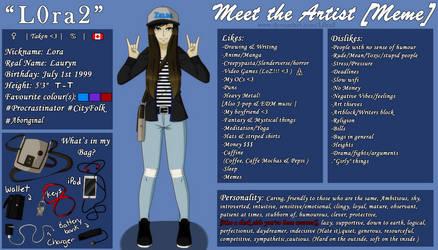 [Meme] Meet The Artist by L0ra2