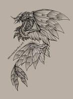 Amphiptere concept #1 (digital ink)