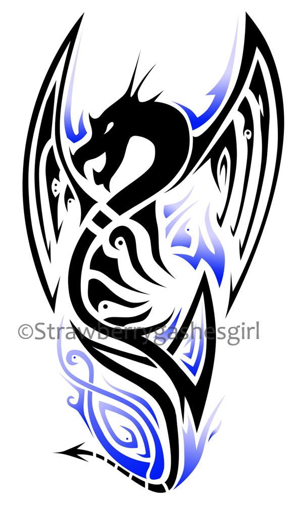 dragons tribal on pinterest tribal dragon tattoos dragon tattoos and dragon tattoo designs. Black Bedroom Furniture Sets. Home Design Ideas