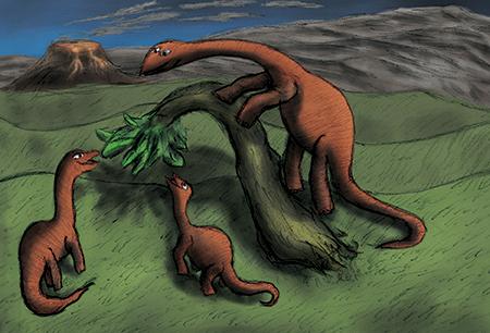 Dinosaur Postcard by CMWildeyes