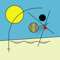 Summer Abstract : Beach Volley