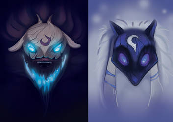 Kindred - wolf and lamb by kaarmeen