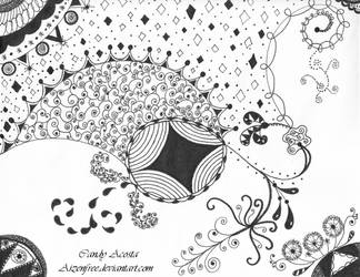 #12 Zendoodle Drawing by Aizenfree