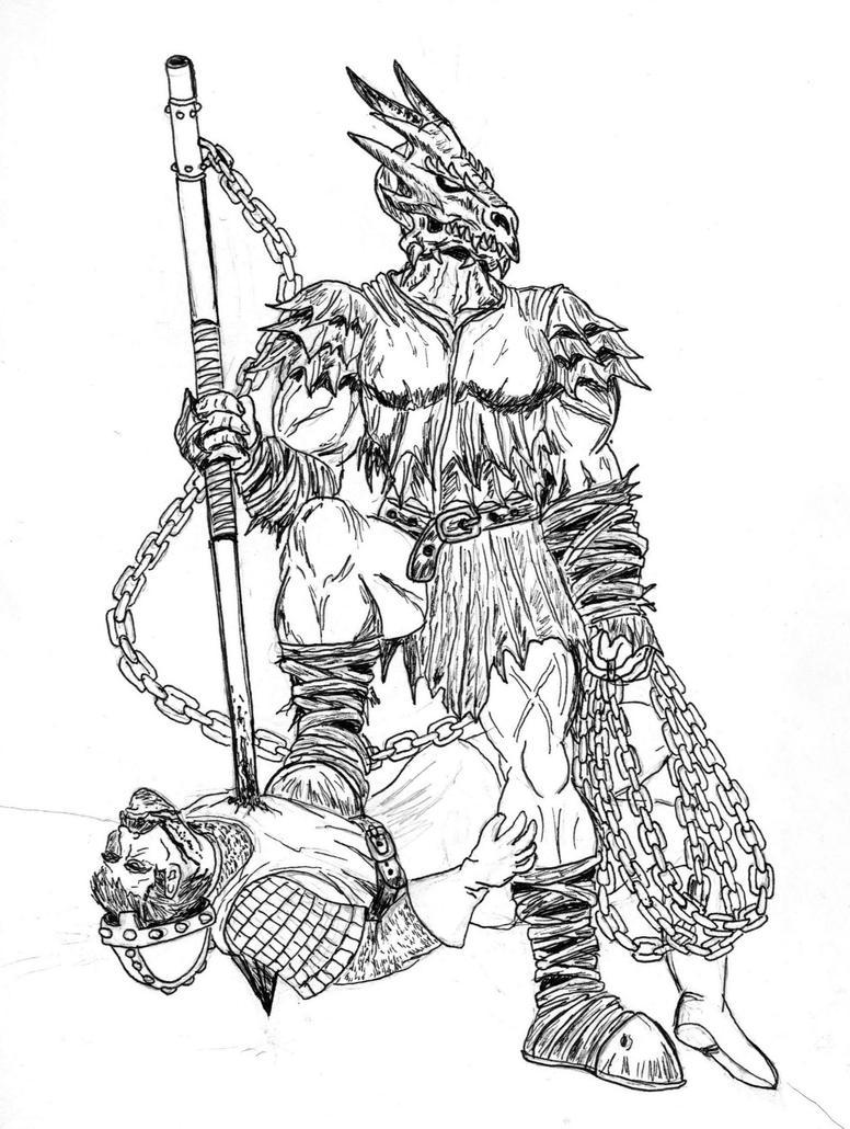 Hobgoblin Coloring Pages Auto Electrical Wiring Diagram Smoke Detector Firex 120 1072b Female Half Orc