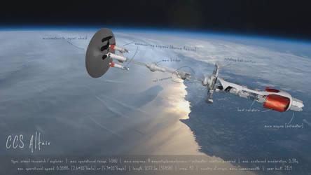 CCS Altair, 2100's explorer spacecraft by fmilluminati