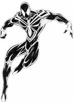 SPIDERMAN-BLACK DESIGN-1 by THEHITMANHORTON