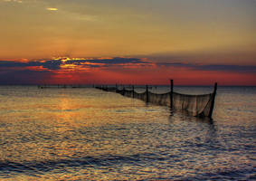 Sunset by Fishing Nets 2 by MartinLucas