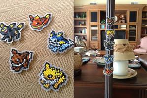 Eeveelution Magnets!! ^0^! by emietheemerald
