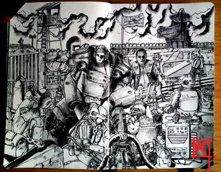 Moleskine Doodle-War never changes by Radical1981