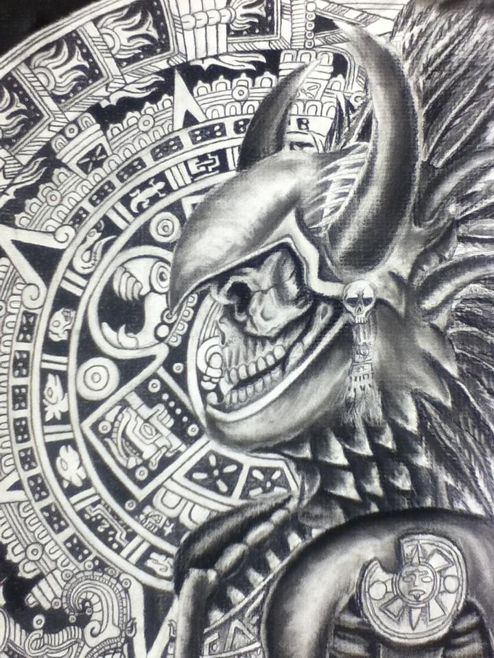 Chicano Aztec Art Warriors | Car Interior Design
