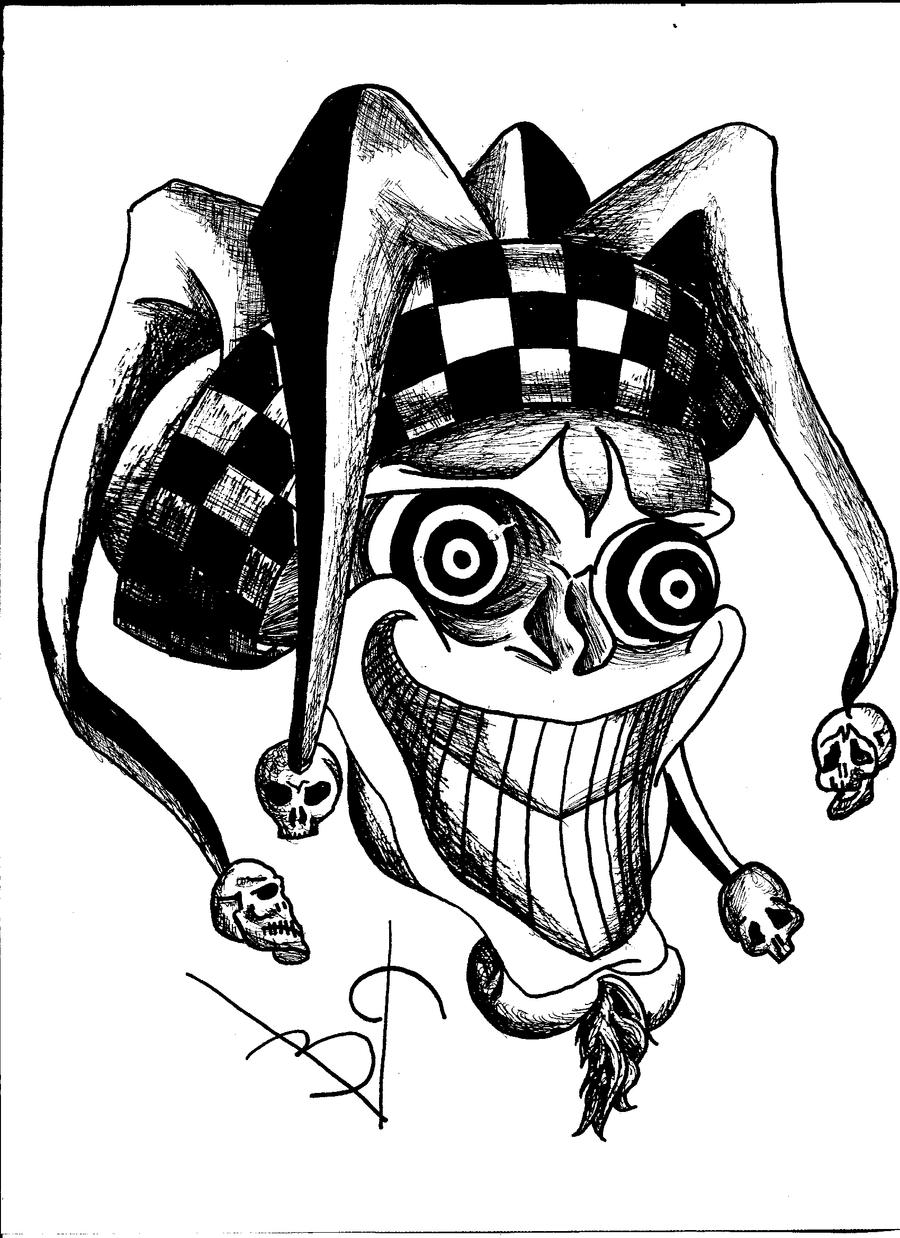 Evil Wicked Jester Drawings