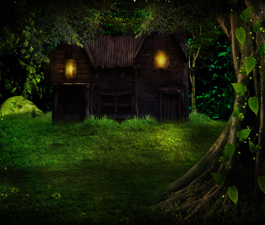 The Cottage In Woods BG STOCK By Moonglowlilly