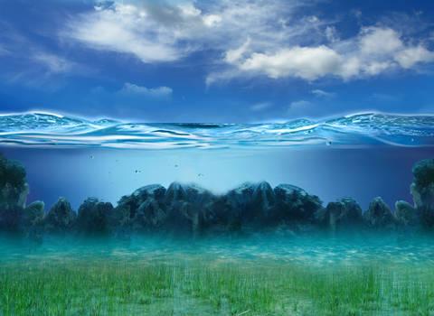 Underwater Bg Stock