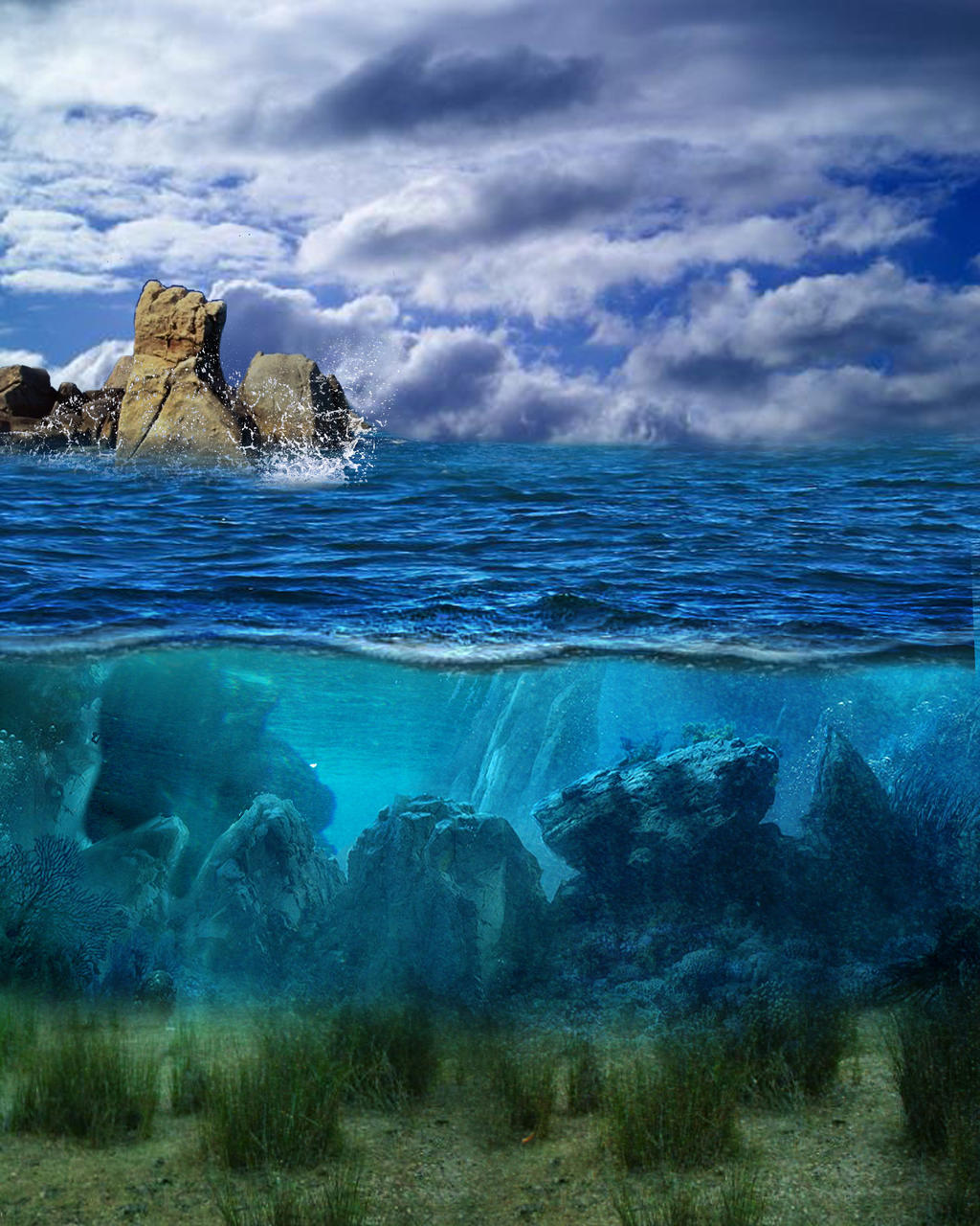 Ocean Stock Bg by Moonglowlilly