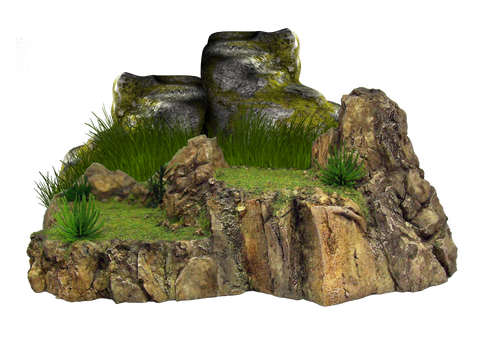 Png Grassy Rock