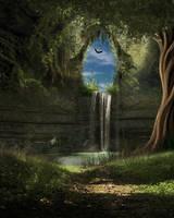 Fantasy Underground Bg by Moonglowlilly