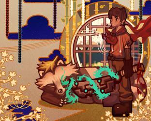 Tanuki New Year by Tanukid
