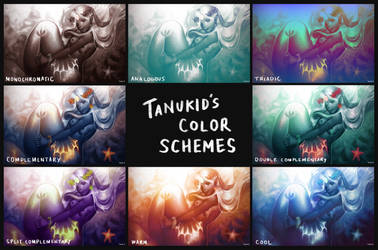 Mermaid Color Schemes by Tanukid