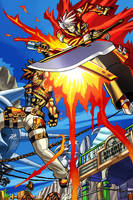 Ragna the Bloodedge vs Sol Badguy by njack46
