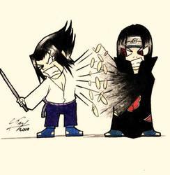 SasukevsItachi: Bloody Battle by KeeperOfPork