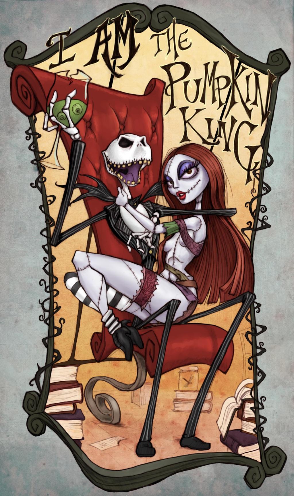 I Am The Pumpkin King Hahaha by ALXNDR-Art