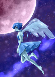 Lapis Flies to the Moon by dalliechan