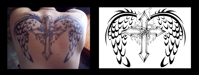 Tattoo Design - Wings by PenguinAttackStudios