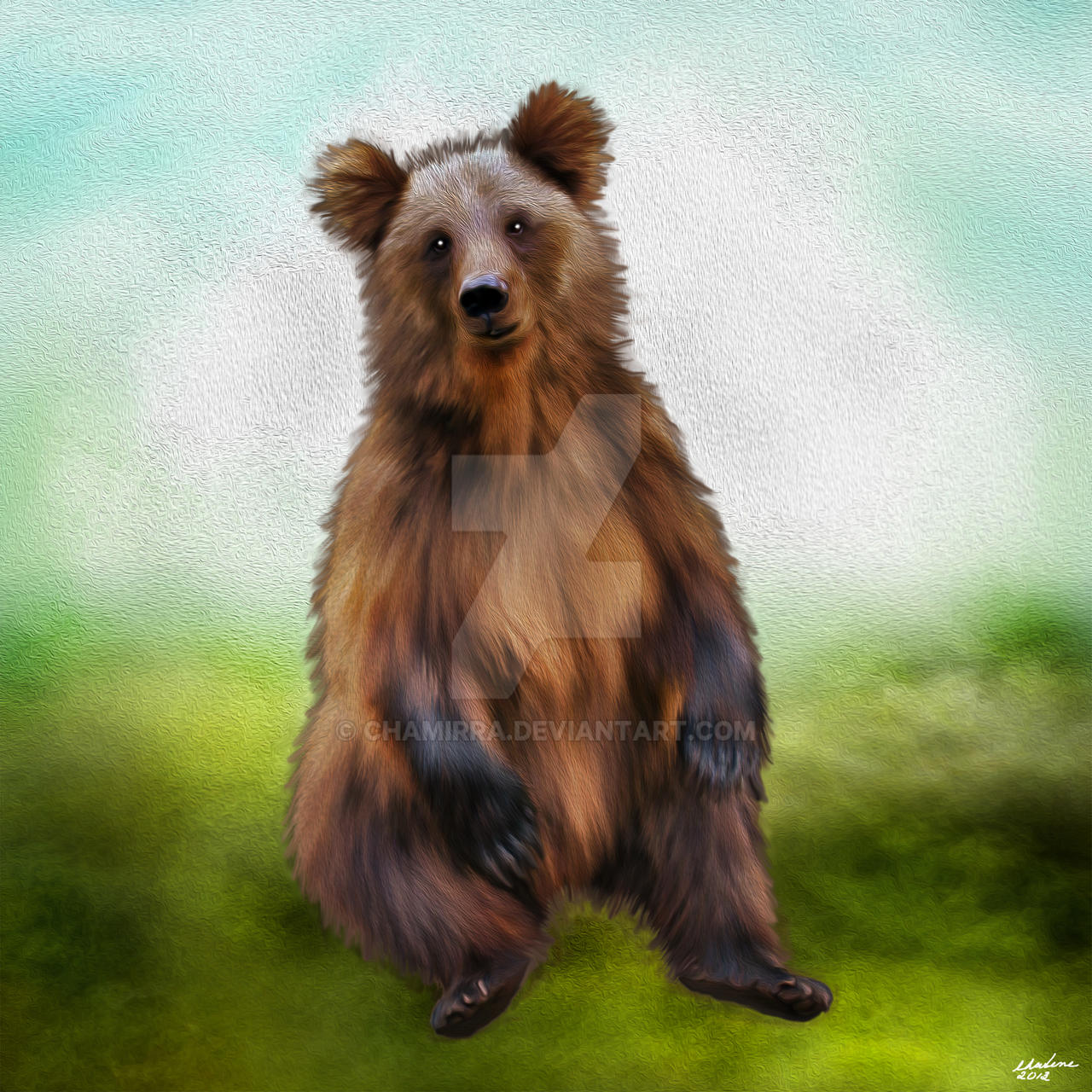 the bear painting by chamirra watch digital art drawings paintings ...: chamirra.deviantart.com/art/The-Bear-Painting-350511170
