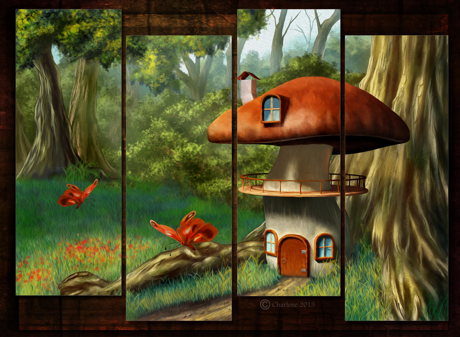 The mushroom house digital painting by chamirra on deviantart for Digitally paint your house