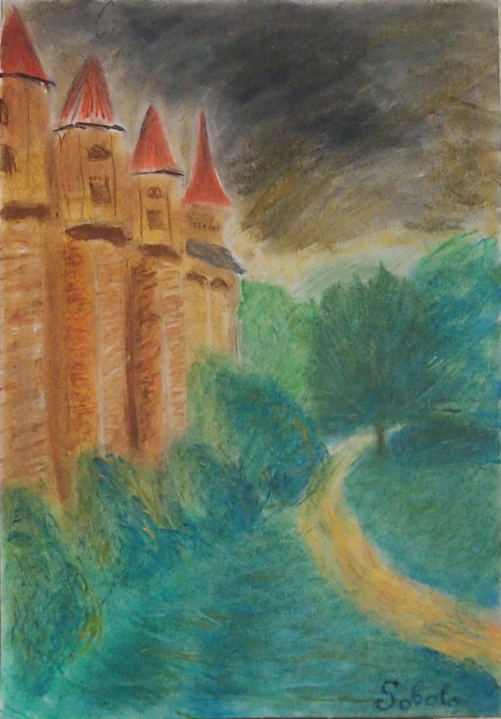 Castelul Huniazilor in Transylvania, Romania by Sobola